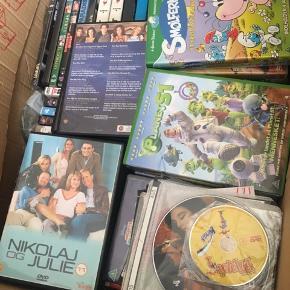 Der er ca 100 diverse dvd og pc spil plus/minus fejler intet hele kassen sælges til 500 ellers 10 kr stk sender desværre ikke   Befinder sig i 6510 Gram og har mobile pay
