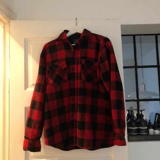 Jakke, NY uld skovmands skjorte,