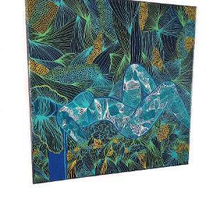 Unikt håndlavet maleri mix media 40×40cm  Titel: Eve  Instagram @randiskunstgalleri.dk  #kunst #maleri #indretning