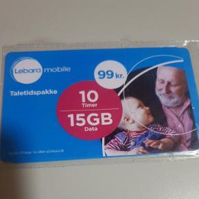Jeg har købt det her, fordi jeg havde brug for et SIM-kort, men pakken her er UDEN SIM-kort. Men har du et SIM-kort til Lebara og har brug for en optankning, kan du bruge det her 👍🙂