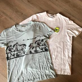 Super fin lyseblå t shirt fra Ganni m / hestemotiv  det er kun den lyseblå der sælges