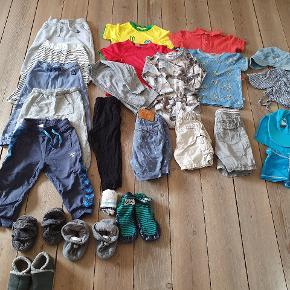 Tøjpakke str 86/92 et par dele i str 80.  Tøj er Gmb men i ok stand. Forskillige mærker som Molo, Hummel, Pompdelux, Vrs Melton ovs.