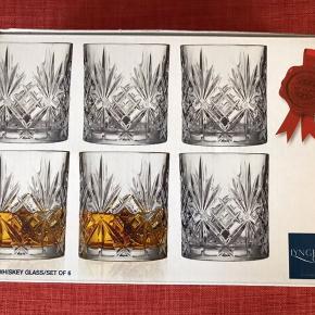 6 stk Lyngby Melodia whiskeyglas Aldrig brugt eller taget ud af kassen