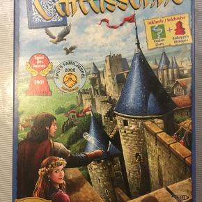 Carcassonne spillet/ brætspil/ med floden og biskoppen, ubrugt.