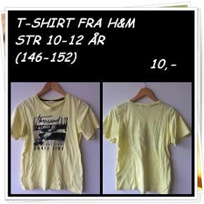 T-shirt fra h&m str 10-12 år