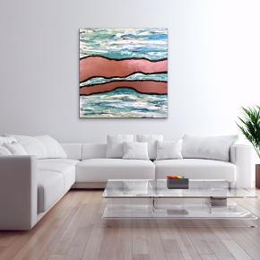 Maleri med målene 100x100x4 cm. Malet med akryl og spray 🎨 Pris er uden forsendelse Tager også imod bestillinger efter egne farve- og størrelsesønsker 🍭🙏🏽 ROAR