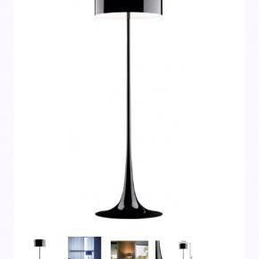 Flot sort gulvlampe - Spun Light F. Brugt, men Inge ridser o.lign. Nypris 12.000kr. Kun seriøse bud. Skal afhentes på Islands Brygge.
