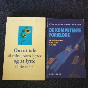 Bog 1: Om at tale så mine børn lytter og at lytte så de taler. Meget lidt brugt. Bog 2: De kompetente Forældre. Brugt og med gule overstregniger nogle steder. Kom med et bud.  Køber betaler fragt med Dao eller kan evt afhentes på Østerbro. Se også mine andre annoncer 🙂.