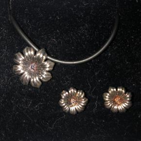 Støvring Design halskæde og øreringe