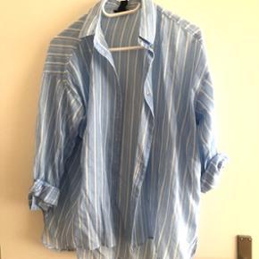 Blau weiss gestreifte Baumwolle Bluse Grösse S 36
