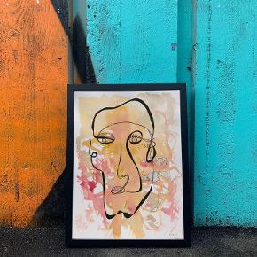 Håndlavet illustration med akvarel og fine line pen på 50 procent bomulds-akvarelpapir (310g) 🤩  A4 størrelse - dvs. 21 cm x 29,7 cm  OBS: Ramme medfølger ikke.