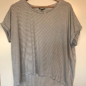 Super sød stribet t-shirt. Den har ingen huller eller misfarvning, men er dog vasket en del gange hvilket kan ses lidt på stoffet. Ellers super fin 🌸  #30dayssellout