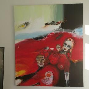 Anderledes og specielt maleri sælges. Det har været på censureret udstilling og nyprisen var 6000. Bud modtages gerne