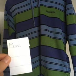 """Supreme """"stripes"""" hoodie i grøn/blå/sort fra SS17.  - Str. M (Fitter 175 - 185ca.) - Cond 8,5/10 (ingen flaws)  Henvend dig på tlf: 40811214 for yderligere information"""