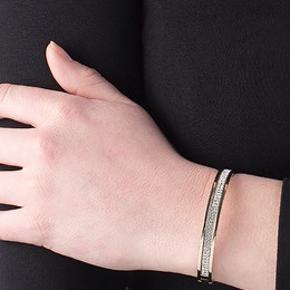 Flot armbånd med stenstykke fra Dyrberg Kern i modellen Lorbel