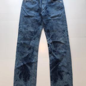 """Vintage Levis """"acid wash"""" 501 jeans  Mørkeblå/lyseblå  Str W30L32"""