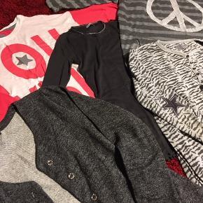 5 stk. overdele sælges🌸  4 trøjer, 1 cardigan Alle str. 11/12 år Mærkerne er PompDeLux, Boca og D-xel.  Sælges samlet 50kr🌸