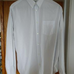 Acne studios let bomuldskjorte, hvid med lette blå striber