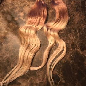 Ægte extensions i højeste kvalitet, tape on  Til fuld påsætning 50cm   Blonde naturlig blonde balayge