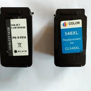 to nye blækpatroner til canon pixma mg 2550s nr.545 og 546 nypris:300,00kr