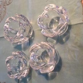4 Lotus stager fra Holmegaard - 1 stor 3 mellem (forretningspris ca 650 kr)