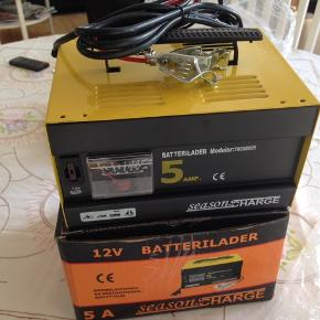 Ny batterioplader 12v. Season charge.