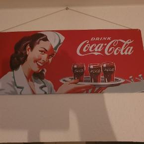 Coca Cola Emaljeskilt Kom med bud!