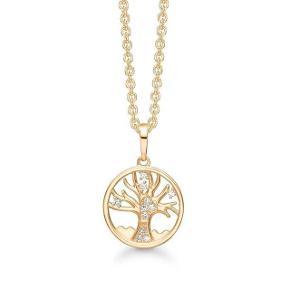 Sødeste halskæde sælges med kvittering!  Livets træ i 8 karat guld, detaljer i beskrivelse i billeder. Kæde 42-45 cm. Brugt få gange. Æske medfølger.   Fast pris, handler via køb nu og sendes derefter med DAO❣️