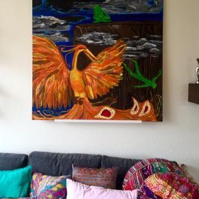 120x120 akryl maleri  -ALT af mit under 100kr = 3 annoncer 150kr