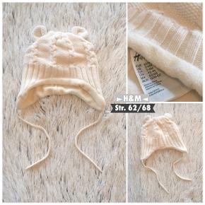 H&M hue i str. 62/68 Lækker varm hue brugt få gange er som ny. Sender selvfølgelig gerne hvis køber betaler porto.