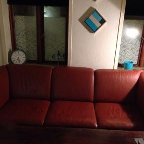 Okselæder 3 personers sofa