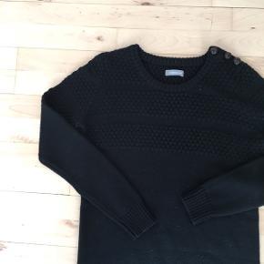 Smuk mørkeblå sweater tunika
