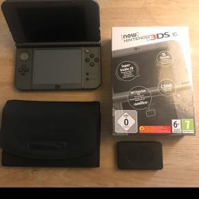 Nintendo 3DS xl, grå, næsten ikke brugt - original kasse, lille taske og holder til spil medfølger.