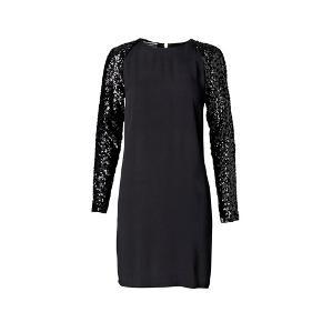 Sort #bymalenebirger kjole med palliet ærmer og messing lynlås bagpå. Str 34. Nypris 2999kr, sælges for 500kr