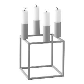 LIMITED EDITION!!!  Kubus 4 lysestage i lakeret stål til 4 lys fra by Lassen.   Farve: cool grey. Mål: H: 14 x L: 14 x B: 14 cm.   Mogens Lassen. Kubus 4 lysestage, cool grey er kun produceret i 772 eksemplarer