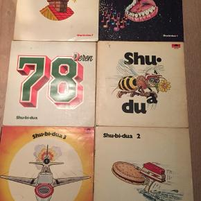 Seks skønne Shu-bi-dua LP plader, kom med et bud