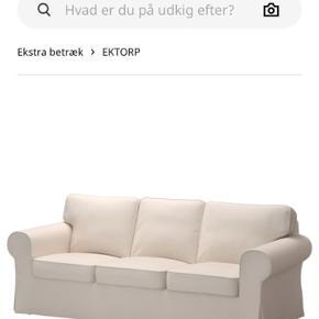 Betræk EKTORP 3 Pers. Sofa 🛋  Pakket ud, men aldrig brugt 🍃  B Y D