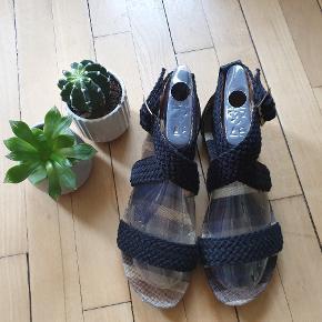 Attrativo greek sustainable brand⚡⚡⚡ summer black braid sandals with bronze detail
