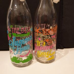 Fine vandflasker med patentprop sælges samlet for 50 kr
