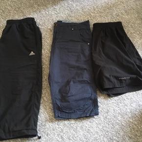 3 par shorts, 40kr stk, eller 3 samlet 100kr 😊  Fra venstre : Sorte Adidas str L Mørke blå blue link w 34 Sorte endurance str xl  6700 knudsgade 😊