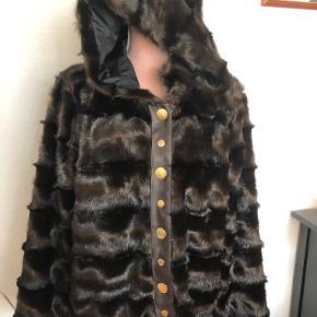 Freequent pels- & skindjakke