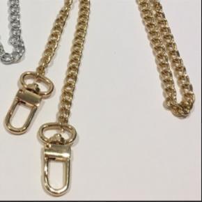 Håndrejet rem/ kæde. Guldfarvet 100 cm