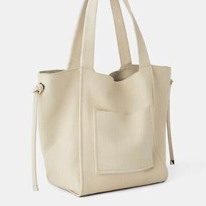 Flot stor lædertaske/skindtaske fra Zara. Helt ny, 100% ægte læder.   Køber betaler gebyr