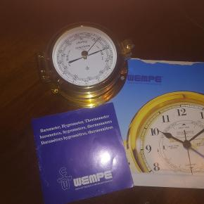 Wempe skibs-barometer, hygrometer og termometer.