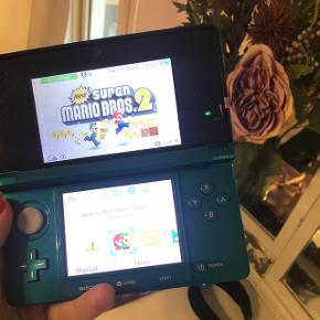 Nintendo 3D med Supermario 2 3D🌴Ingen fejl eller tydelige ridser!   BYD 🌞🌞🌞