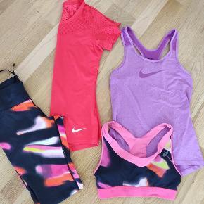 Nike og Asics blandet sportstøj. Prisen afhænger af hvad/hvor mange stk. du køber. Ved køb af min.2 betaler jeg forsendelsen.