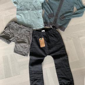 Bukser og cardigan ny Shorts og t-shift brugt et par gange men fremstår som nyt