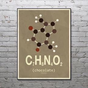 Chocolate-molekyle plakat fra Molekylen i str 30x40. Ramme medfølger ikke.   ❕annonce slettes når varen er solgt!  🤍 Jeg giver gratis fragt ved køb af to eller flere varer, så længe den samlede pris er på 100kr eller derover!