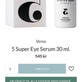 Verso 5 Super Eye Serum, 30 ml. Aldrig åbnet, 30 ml. Købspris i magasin:545.