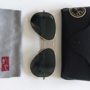 Ray-Ban Aviator solbrille. Brugt få gange, derfor sælges de.